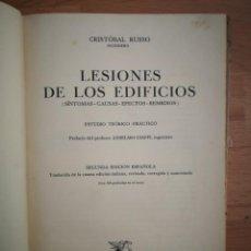 Libros antiguos: LESIONES DE LOS EDIFICIOS, DE ED. SALVAT (1934). Lote 164141330