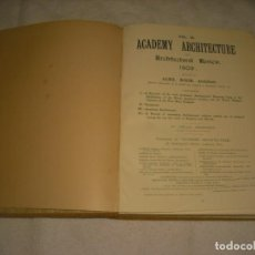 Livres anciens: ACADEMY ARCHITECTURE 1909 , ELEX KOCH . VOL 35 148 PAGS.. Lote 165331066