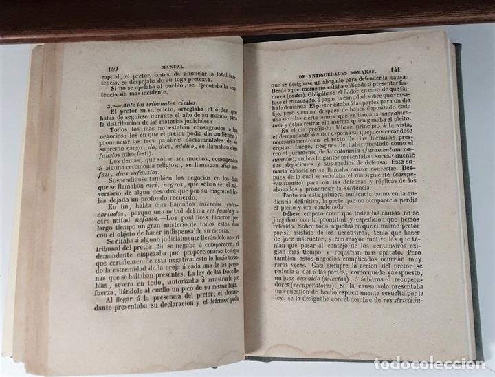 Libros antiguos: MANUAL DE ANTIGUEDADES ROMANAS. IMPRENTA IGNACIO BOIX. MADRID. 1845. - Foto 5 - 165627498