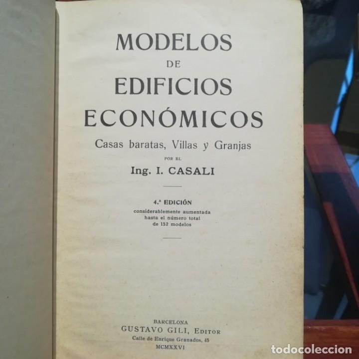 Libros antiguos: MODELOS DE EDIFICIOS ECONOMICOS--I. CASALI-GUSTAVO GILI--1926-MUY BUEN ESTADO - Foto 6 - 165727738