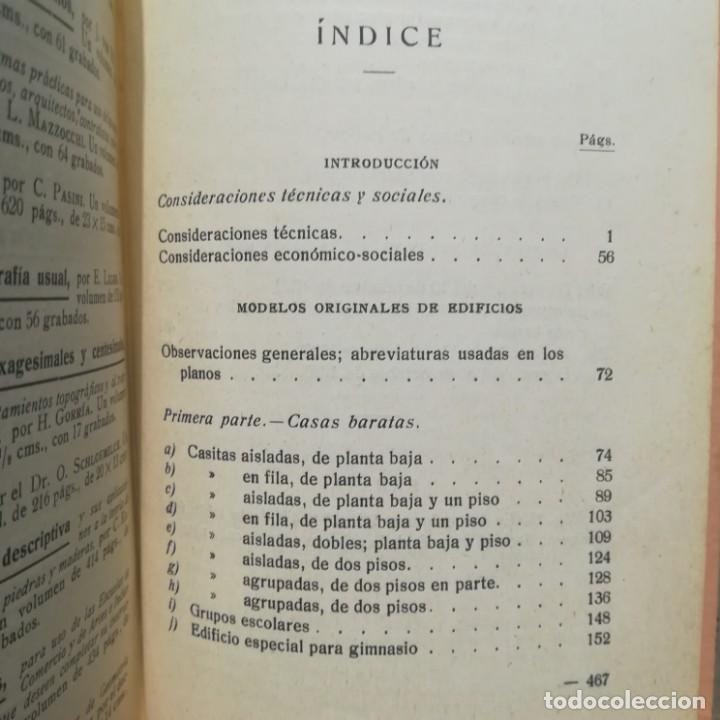 Libros antiguos: MODELOS DE EDIFICIOS ECONOMICOS--I. CASALI-GUSTAVO GILI--1926-MUY BUEN ESTADO - Foto 14 - 165727738