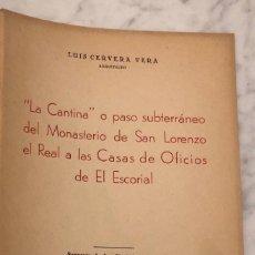 Libros antiguos: LA CANTINA O PASO SUBTERRANEO....(13€). Lote 166701898