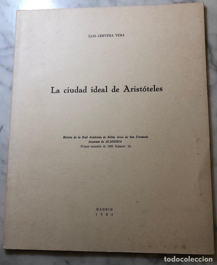 LA CIUDAD IDEAL DE ARISTÓTELES-RABASF-LCV(13€) (Libros Antiguos, Raros y Curiosos - Bellas artes, ocio y coleccion - Arquitectura)