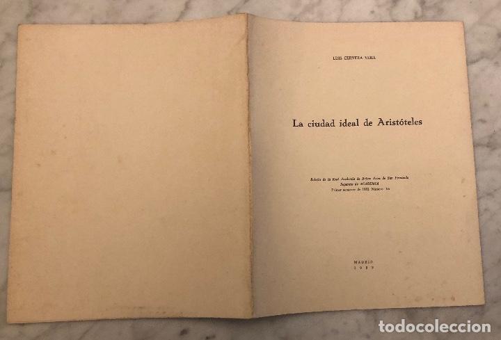 Libros antiguos: La ciudad ideal de Aristóteles-RABASF-LCV(13€) - Foto 5 - 166702026