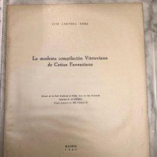 Libros antiguos: LA MODESTA COMPILACIÓN VITRUVIANA DE CETIUS FAVENTINUS-LCV(13€). Lote 166702178