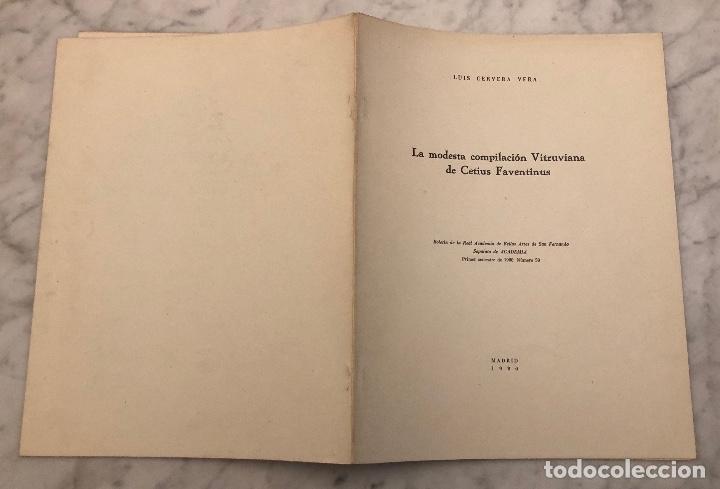 Libros antiguos: La modesta compilación Vitruviana de Cetius Faventinus-LCV(13€) - Foto 5 - 166702178