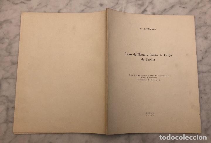 Libros antiguos: Juan de Herrera diseña la lonja de Sevilla -RABASF-LCV(13€) - Foto 5 - 166717806