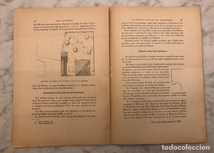Libros antiguos: JUAN DE HERRERA Y EL APOSENTO DE FELIPE II EN TORRELODONES(13€) - Foto 4 - 166717906