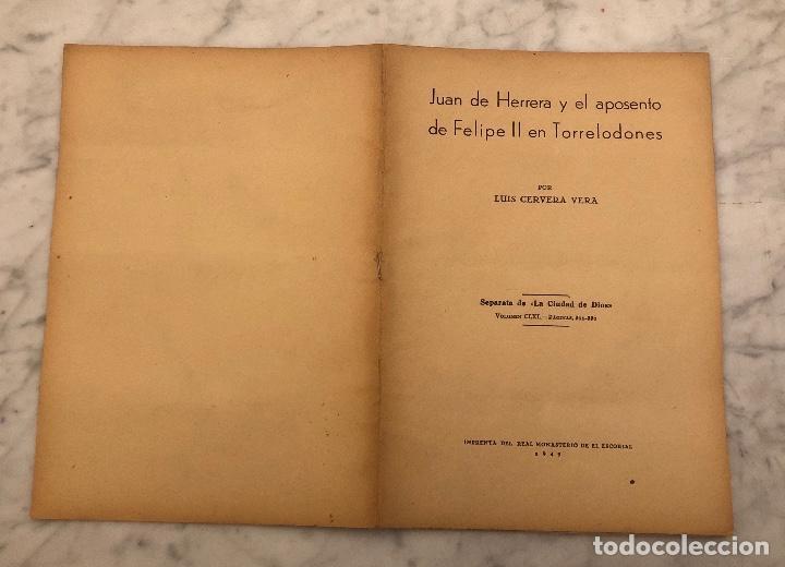 Libros antiguos: JUAN DE HERRERA Y EL APOSENTO DE FELIPE II EN TORRELODONES(13€) - Foto 5 - 166717906