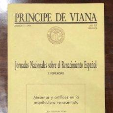 Libros antiguos: MECENASY ARTISTAS EN LA ARQUITECTURA RENACENTISTA-PONENCIA-LCV(13€). Lote 166718058
