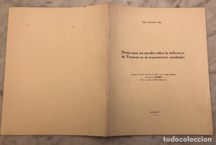 Libros antiguos: Notas para un estudio sobre la influencia deVitrubio en el renacimiento carolingio-LCV(13€) - Foto 5 - 166718142