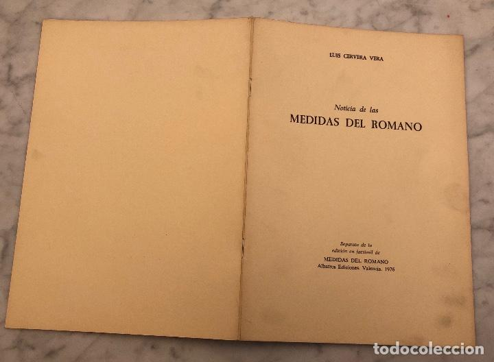 Libros antiguos: Noticia las medidas del Romano-LCV(13€) - Foto 5 - 166718202