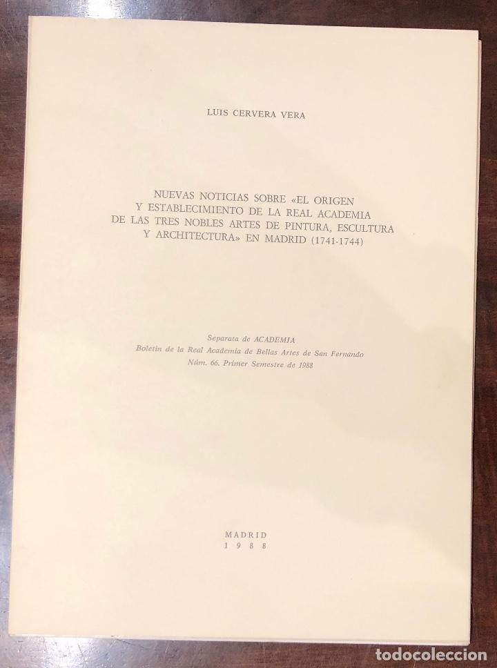 NUEVASNOTICIASSOBREORIGENESTABLECIMIENTDEREALACADEMIADETRESNOBLESARTESPINTURAESCULTARQUITECTMAD(13€) (Libros Antiguos, Raros y Curiosos - Bellas artes, ocio y coleccion - Arquitectura)