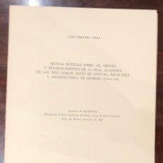 Libros antiguos: NUEVASNOTICIASSOBREORIGENESTABLECIMIENTDEREALACADEMIADETRESNOBLESARTESPINTURAESCULTARQUITECTMAD(13€). Lote 166718682