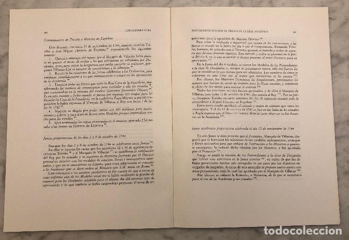 Libros antiguos: NuevasnoticiassobreorigenestablecimientderealacademiadetresnoblesartespinturaescultarquitectMad(13€) - Foto 2 - 166718682
