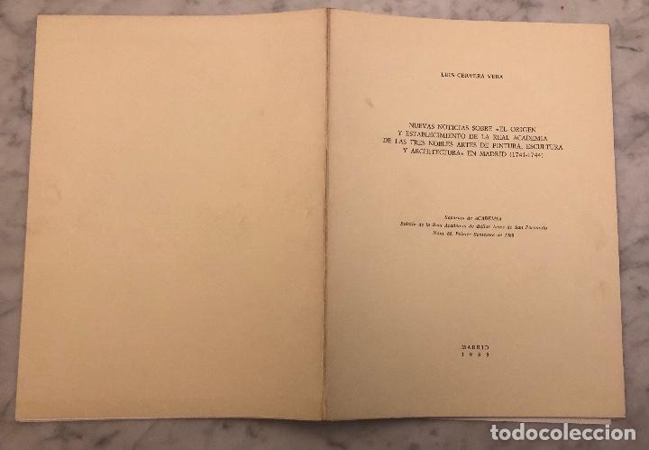 Libros antiguos: NuevasnoticiassobreorigenestablecimientderealacademiadetresnoblesartespinturaescultarquitectMad(13€) - Foto 5 - 166718682
