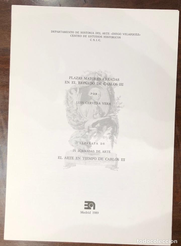 PLAZAS MAYORES CREADAS EN EL REINADO DE CARLOS III-LCV(13€) (Libros Antiguos, Raros y Curiosos - Bellas artes, ocio y coleccion - Arquitectura)