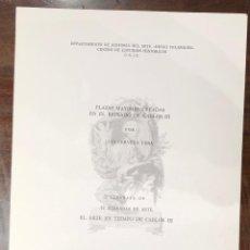 Libros antiguos: PLAZAS MAYORES CREADAS EN EL REINADO DE CARLOS III-LCV(13€). Lote 166718738