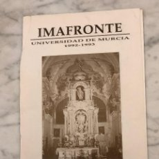 Libros antiguos: HOMENAJE A LA PROFESORA VIRGINIA DE MERGELINA-IMAFRONTE-MURCIA-LCV(13€). Lote 166719254