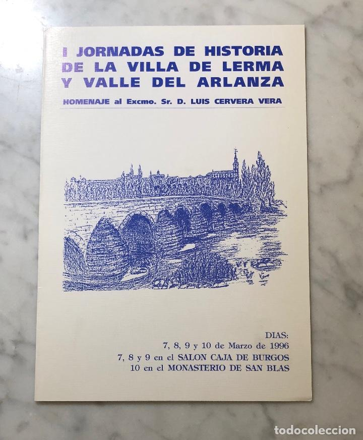 IJORNADAS DE HISTORIA DE LA VILLA DE LERMA Y VALLE DEL ARLANZA-LCV(13€) (Libros Antiguos, Raros y Curiosos - Bellas artes, ocio y coleccion - Arquitectura)