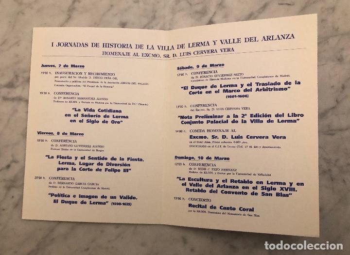 Libros antiguos: IJornadas de historia de la Villa de Lerma y valle del Arlanza-LCV(13€) - Foto 2 - 166719362