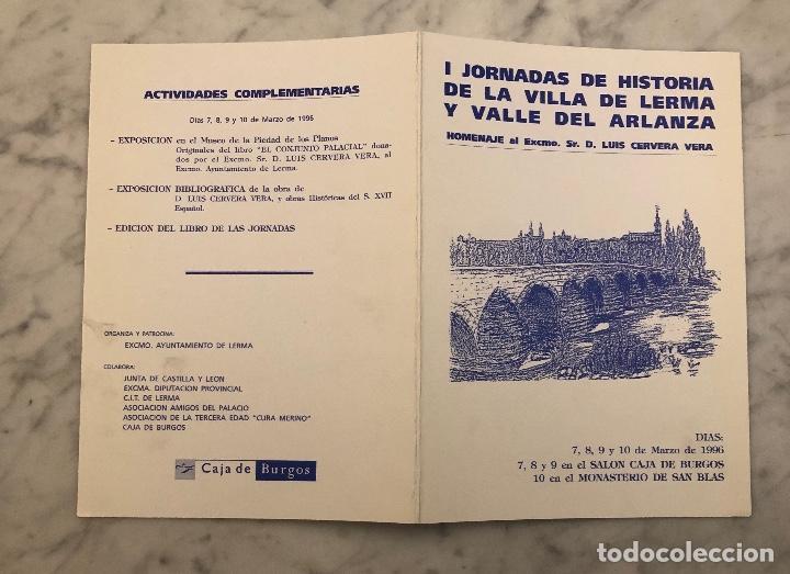 Libros antiguos: IJornadas de historia de la Villa de Lerma y valle del Arlanza-LCV(13€) - Foto 3 - 166719362