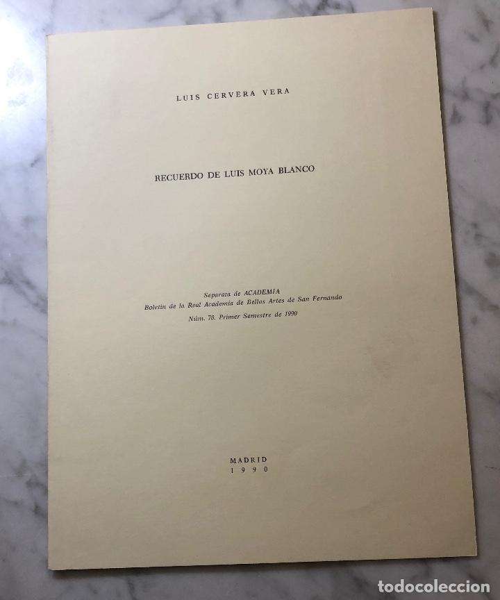 RECUERDO DE LUIS MOYA BLANCO-RABASF-LCV(13€) (Libros Antiguos, Raros y Curiosos - Bellas artes, ocio y coleccion - Arquitectura)