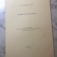 Libros antiguos: RECUERDO DE LUIS MOYA BLANCO-RABASF-LCV(13€). Lote 166724842