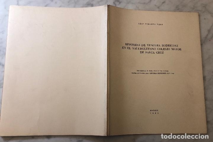 Libros antiguos: Reformas de Ventura Rodríguez en el vallisoletano colegio mayor de Santa Cruz-LCV(13€) - Foto 5 - 166724886