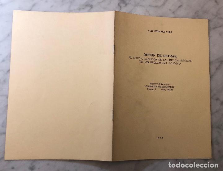 Libros antiguos: Remon de Petras. El activo impresor de la edición Príncipe de las medidas del Romano-LCV(13€) - Foto 5 - 166725010
