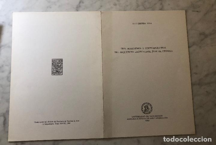 Libros antiguos: Tres homonimos y contemporáneos del arquitecto escurialense Juan de Herrera-LCV(13€) - Foto 5 - 166725054