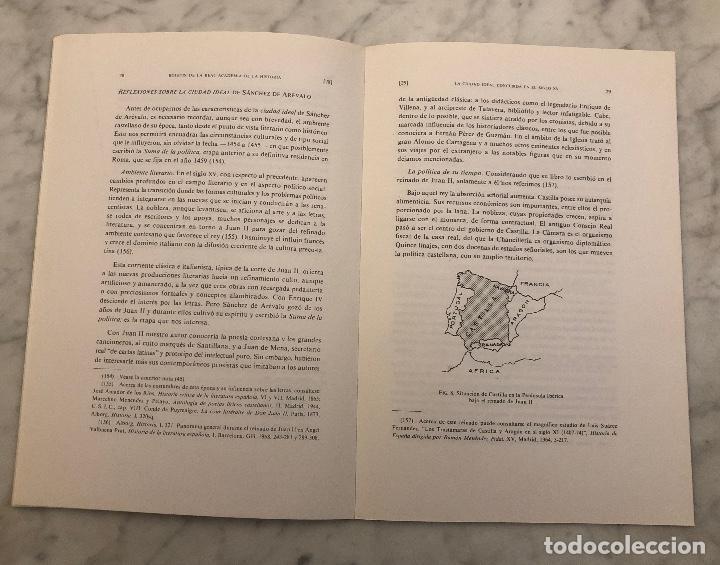 Libros antiguos: La ciudad ideal concebida en el siglo XV por el humanista Sánchez de Arévalo-RABASF-LCV(13€) - Foto 4 - 166726354