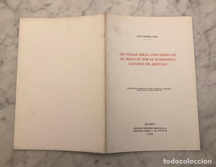 Libros antiguos: La ciudad ideal concebida en el siglo XV por el humanista Sánchez de Arévalo-RABASF-LCV(13€) - Foto 5 - 166726354