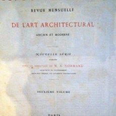 Libros antiguos: LE MONITEUR DES ARCHITECTES- 1867 (ARQUITECTURA- EN FRANCES). Lote 167838572