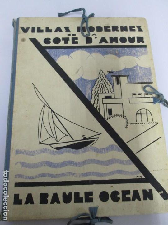 Libros antiguos: VILLAX MODERNES DE LA COTE D´AMOUR. LA BAULE OCEAN. J. GAUTHIER. 1930. ARQUITECTURA VILLAS MODERNAS. - Foto 6 - 167874084