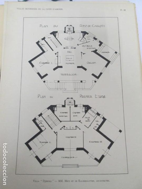 Libros antiguos: VILLAX MODERNES DE LA COTE D´AMOUR. LA BAULE OCEAN. J. GAUTHIER. 1930. ARQUITECTURA VILLAS MODERNAS. - Foto 13 - 167874084