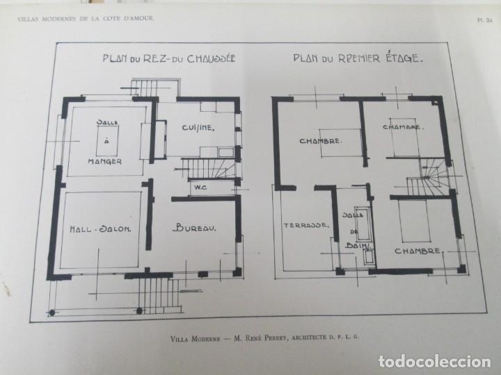 Libros antiguos: VILLAX MODERNES DE LA COTE D´AMOUR. LA BAULE OCEAN. J. GAUTHIER. 1930. ARQUITECTURA VILLAS MODERNAS. - Foto 16 - 167874084