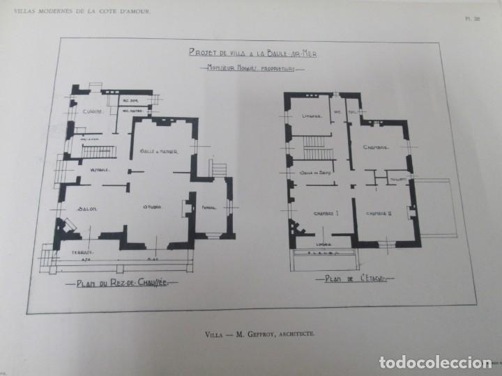 Libros antiguos: VILLAX MODERNES DE LA COTE D´AMOUR. LA BAULE OCEAN. J. GAUTHIER. 1930. ARQUITECTURA VILLAS MODERNAS. - Foto 17 - 167874084