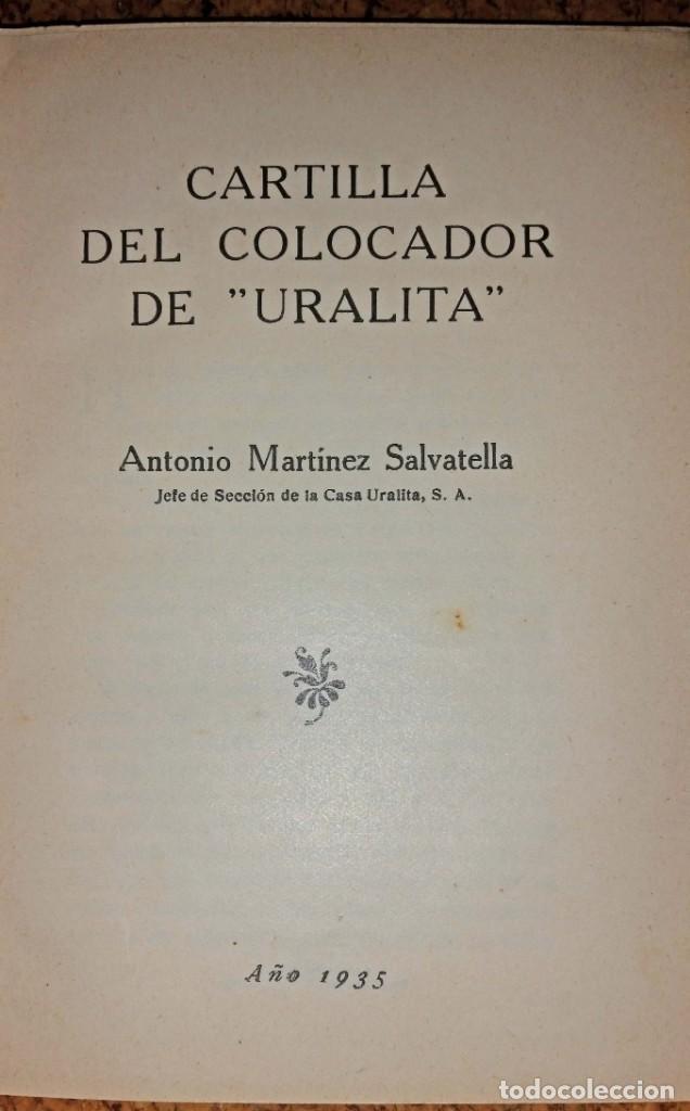 Libros antiguos: LA URALITA EN LOS EDIFICIOS AÑO 1935 - Foto 3 - 168544604