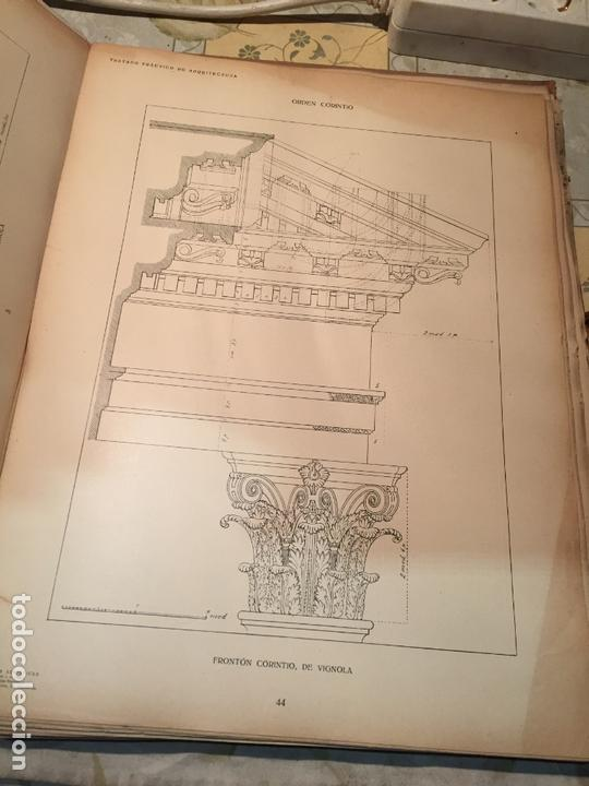 Libros antiguos: Antiguo libro tratado practico de arquitectura por Vignola Palladio Scamozzi año 1931 - Foto 6 - 168644876