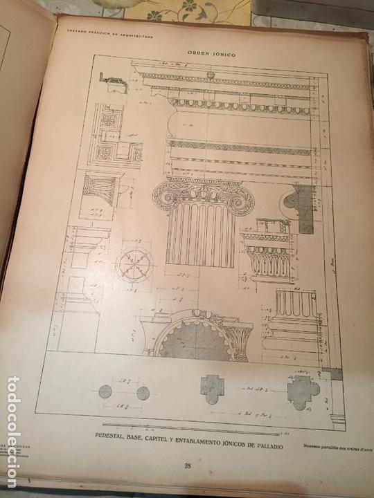 Libros antiguos: Antiguo libro tratado practico de arquitectura por Vignola Palladio Scamozzi año 1931 - Foto 7 - 168644876