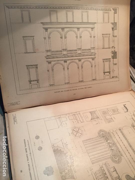 Libros antiguos: Antiguo libro tratado practico de arquitectura por Vignola Palladio Scamozzi año 1931 - Foto 8 - 168644876