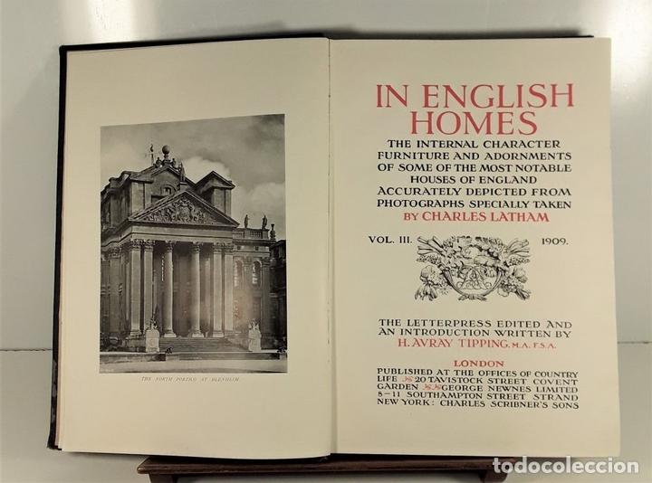 Libros antiguos: IN ENGLISH HOMES. VOLUM III. CHARLES LATHAM. PUBLI. COUNTRY LIFE. LONDON. 1909. - Foto 4 - 168835352