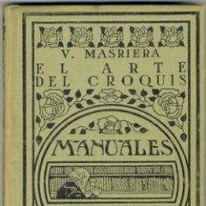 Libros antiguos: EL ARTE DEL CROQUIS - MANUALES GALLACH Nº 124 -1924 . Lote 169048844