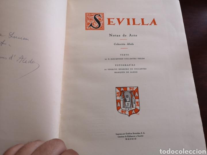 Libros antiguos: Sevilla notas de arte. Colección Aledo tomo 2. Dedicado marqués de Aledo. - Foto 13 - 195346218