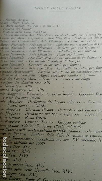 Libros antiguos: ~~~~ LE FONTANE D´ITALIA, ARDUINO COLASANTI - CASA EDITRICE D´ARTE BESTETTI &TVMMINELLI-MILANO ~~~~ - Foto 6 - 169199220