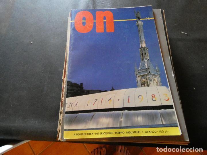 REVISTA ON NUM 46 1983 ARQUITECTURA INTERIORISIMO PESA 350 GRAMOS (Libros Antiguos, Raros y Curiosos - Bellas artes, ocio y coleccion - Arquitectura)