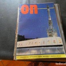 Libros antiguos: REVISTA ON NUM 46 1983 ARQUITECTURA INTERIORISIMO PESA 350 GRAMOS. Lote 169435096