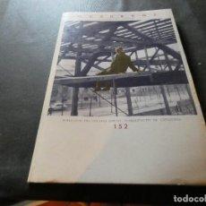 Libros antiguos: REVISTA QUADERNS ARQUITECTURA I URBANISME PUBLICACIO COLEGI OFICIAL ARQUITECTES BCN 152 PESA 450 GR. Lote 169439516