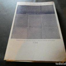 Libros antiguos: REVISTA QUADERNS ARQUITECTURA I URBANISME PUBLICACIO COLEGI OFICIAL ARQUITECTES BCN 156 PESA 700 GR. Lote 169439836